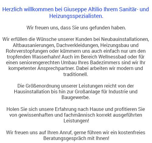 Sanitär- und Heizungstechnik in 70173 Stuttgart, Ostfildern, Filderstadt, Esslingen (Neckar), Korntal-Münchingen, Fellbach, Gerlingen und Leinfelden-Echterdingen, Ditzingen, Kornwestheim