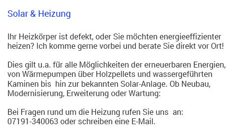 Solaranlagen in  Weissach